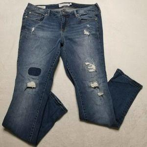 Torrid Denim Jeans Boyfriend Distressed with Patch